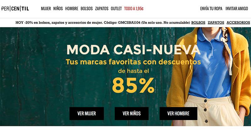 Percentil, ropa casi nueva a un precio incomparable