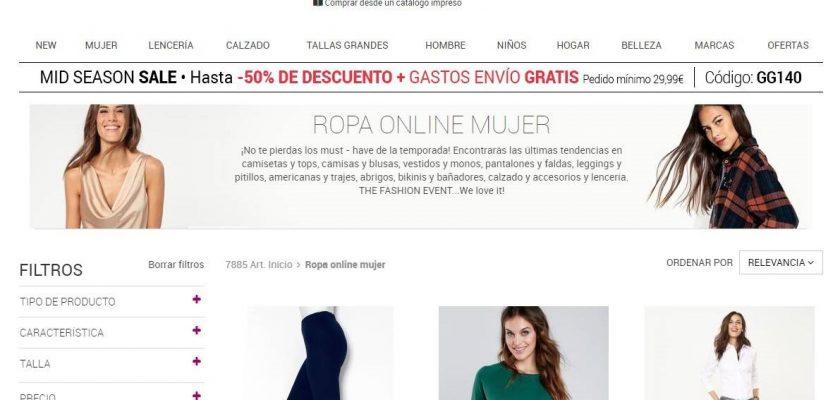 Venca, venta de ropa online para hombres y mujeres